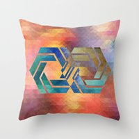 infinite Throw Pillows featuring Infinite by Blank & Vøid