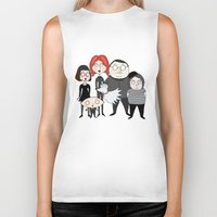 tim shumate Biker Tanks featuring Tim Burton Family Guy by Grace Isabel