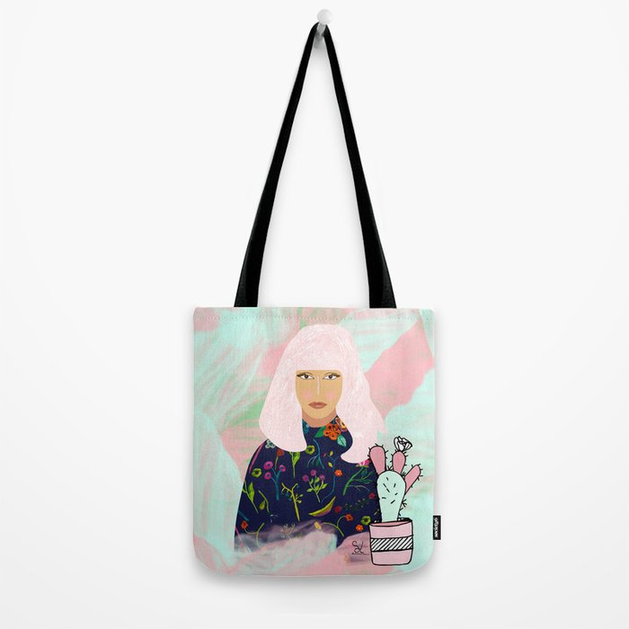 Pink Hair Don't Care I Tote Bag