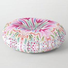 Floral Mandala Floor Pillow