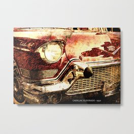 Cadillac Eldorado 1950, wheels, engine, classic car Metal Print