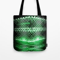 matrix Tote Bags featuring Matrix tower by Azimut