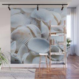 White Seashells Wall Mural