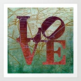 Chester County Love Art Print
