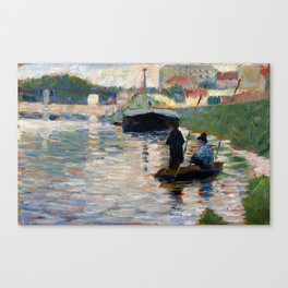 Georges Seurat View of the Seine Canvas Print