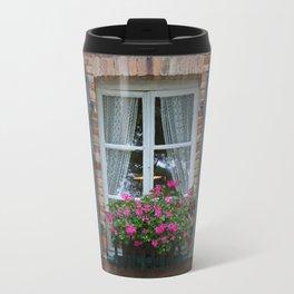 Window and Flowers Travel Mug