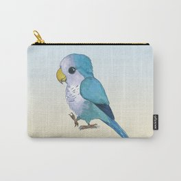 Very cute blue parrot Carry-All Pouch