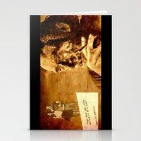 bukowski Stationery Cards featuring Charles Bukowski - love version by ARTito