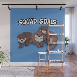Otter Squad Goals Wall Mural