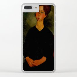 "Amedeo Modigliani ""Little Servant Girl"" Clear iPhone Case"