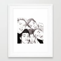 1d Framed Art Prints featuring 1D Selfie by Coconut Wishes