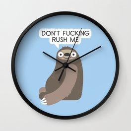 No Hurries Wall Clock