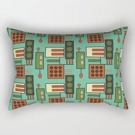 Retro Geodesic Rectangular Pillow