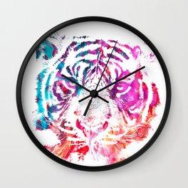 Painted Tiger Wall Clock
