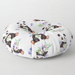 Garden Panda Floor Pillow