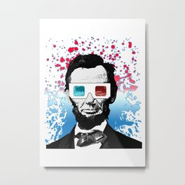 Abraham Lincoln - 3D Metal Print