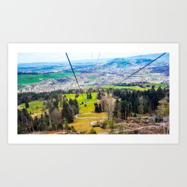 Traveling Up the Mountain Art Print