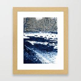 Charles River, Ice Framed Art Print