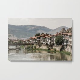 Traditional Ottoman Houses in Amasya, Turkey Metal Print