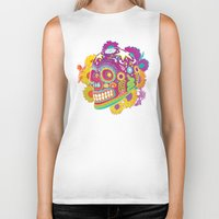 calavera Biker Tanks featuring Calavera by KoolaidGirl