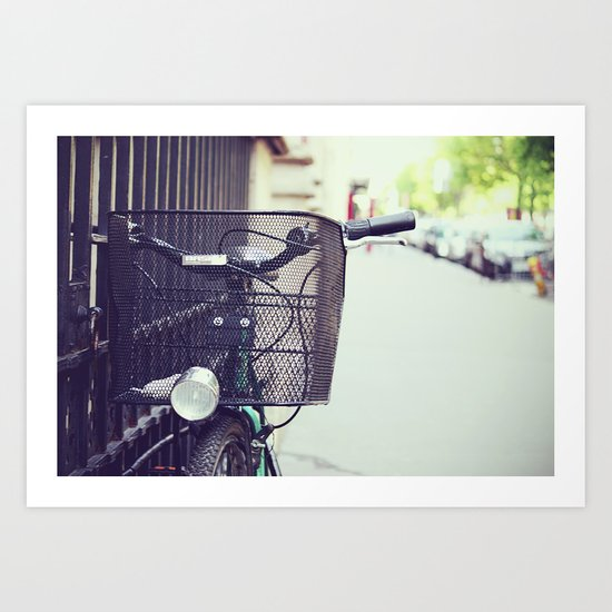 Bike in Paris Art Print