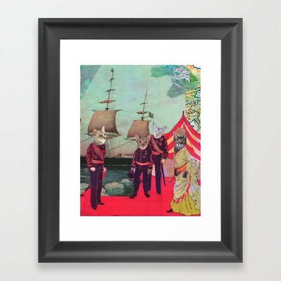 Captain Cosy's Birthday Regatta Framed Art Print