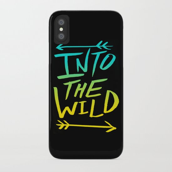 Into The Wild: Typography iPhone Case