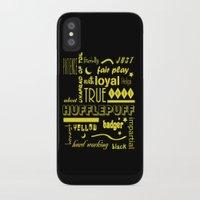 hufflepuff iPhone & iPod Cases featuring Hufflepuff by husavendaczek