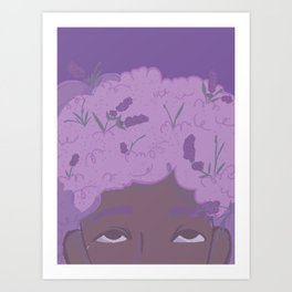 In your hair Art Print