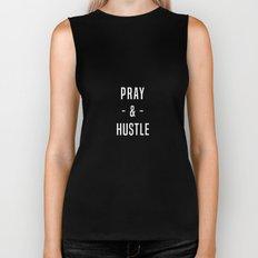 Pray & Hustle Biker Tank