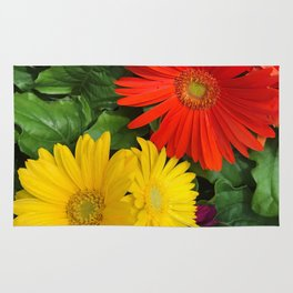 Colorful Daisies Rug