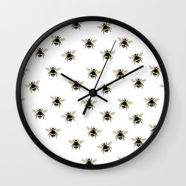 Bumble Bee pattern Wall Clock