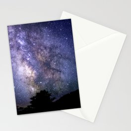 The Milky Way Violet Blue Stationery Cards