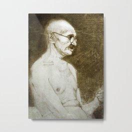 Mahatma Gandhi Metal Print