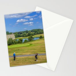 Teeing Off at Leeds Castle Stationery Cards