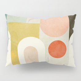 geometry abstract pastel Pillow Sham