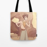 aladdin Tote Bags featuring ALADDIN by Jaimie Hutton