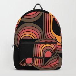 Desert Blaze Retro 70s geometric flower Backpack