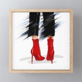 When in doubt wear red Framed Mini Art Print