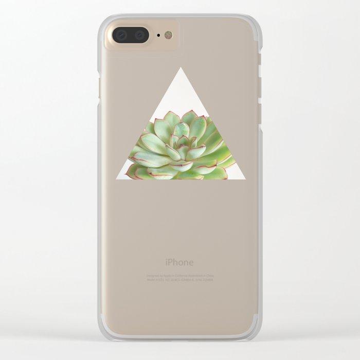 Green Succulent Clear iPhone Case