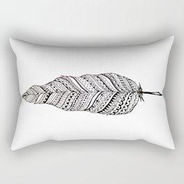 Aztec black and white feather Rectangular Pillow