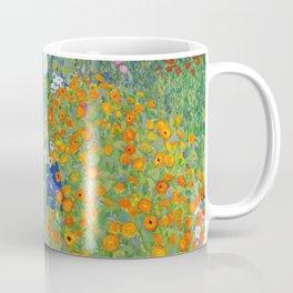 Gustav Klimt Flower Garden Floral Art Nouveau Coffee Mug