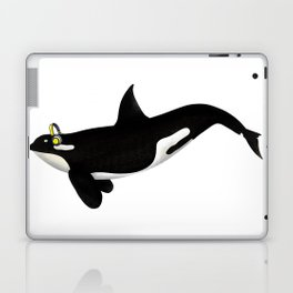 Killer Whale Headphones Laptop & iPad Skin