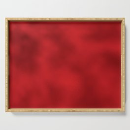 Bold Red Foil Rippled Texture, Holiday - Christmas Serving Tray