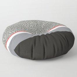 BLACK CEMENT Floor Pillow