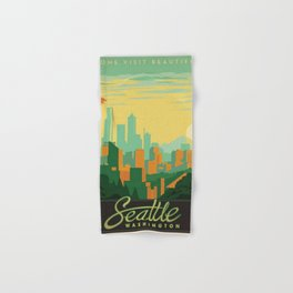 Vintage poster - Seattle Hand & Bath Towel