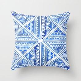 Geo tile art Throw Pillow