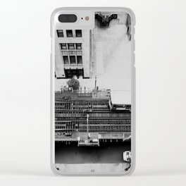 looking down on the tracks ... Clear iPhone Case
