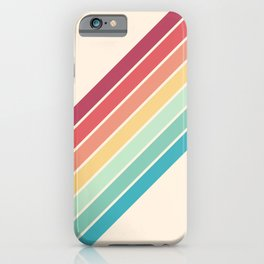 Classic 70s Style Retro Stripes - Penida iPhone Case