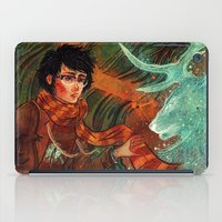 deathly hallows iPad Cases featuring The Deathly Hallows by Angela Rizza